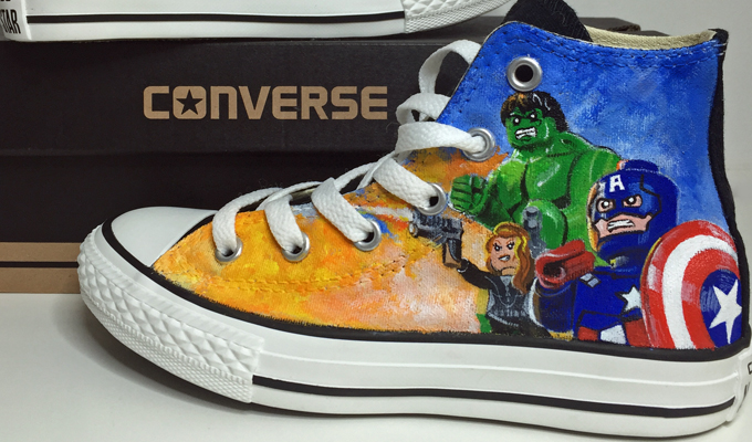 c789a5b8e38d Custom Converse. I paint personalised designs depicting any theme ...