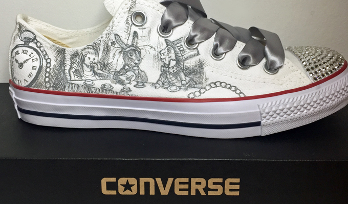 Ange Lord Art | Custom Painted Wedding Converse & Vans Footwear